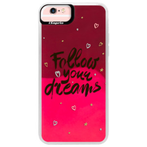 Neonové pouzdro Pink iSaprio Follow Your Dreams black na mobil Apple iPhone 6 Plus/6S Plus