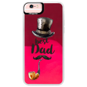 Neonové pouzdro Pink iSaprio Best Dad na mobil Apple iPhone 6 Plus/6S Plus