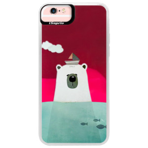 Neonové pouzdro Pink iSaprio Bear With Boat na mobil Apple iPhone 6 Plus/6S Plus