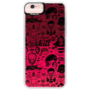 Neonové pouzdro Pink iSaprio Comics 01 black na mobil Apple iPhone 6 Plus/6S Plus