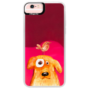 Neonové pouzdro Pink iSaprio Dog And Bird na mobil Apple iPhone 6 Plus/6S Plus