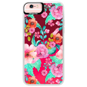 Neonové pouzdro Pink iSaprio Flower Pattern 01 na mobil Apple iPhone 6 Plus/6S Plus