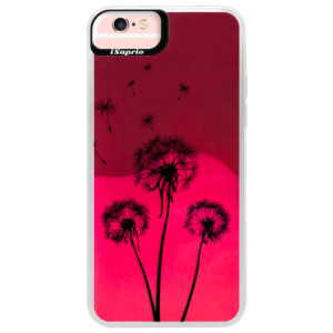 Neonové pouzdro Pink iSaprio Three Dandelions black na mobil Apple iPhone 6 Plus/6S Plus
