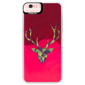 Neonové pouzdro Pink iSaprio Deer Green na mobil Apple iPhone 6 Plus/6S Plus