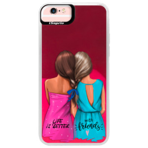Neonové pouzdro Pink iSaprio Best Friends na mobil Apple iPhone 6 Plus/6S Plus