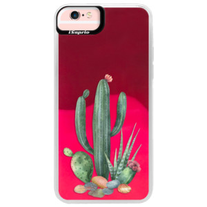 Neonové pouzdro Pink iSaprio Cacti 02 na mobil Apple iPhone 6 Plus/6S Plus