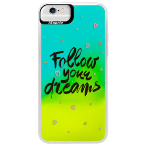 Neonové pouzdro Blue iSaprio Follow Your Dreams black na mobil Apple iPhone 6 Plus/6S Plus