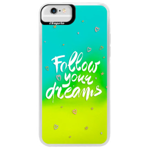 Neonové pouzdro Blue iSaprio Follow Your Dreams white na mobil Apple iPhone 6 Plus/6S Plus