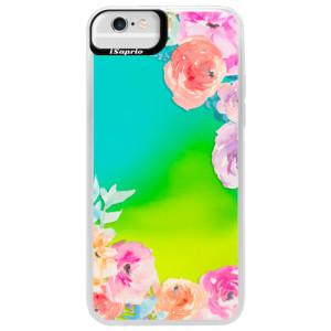 Neonové pouzdro Blue iSaprio Flower Brush na mobil Apple iPhone 6 Plus/6S Plus