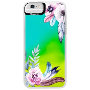 Neonové pouzdro Blue iSaprio Flower Pattern 04 na mobil Apple iPhone 6 Plus/6S Plus
