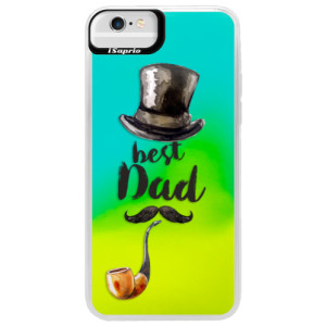 Neonové pouzdro Blue iSaprio Best Dad na mobil Apple iPhone 6 Plus/6S Plus