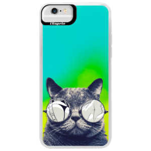 Neonové pouzdro Blue iSaprio Crazy Cat 01 na mobil Apple iPhone 6 Plus/6S Plus