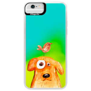 Neonové pouzdro Blue iSaprio Dog And Bird na mobil Apple iPhone 6 Plus/6S Plus