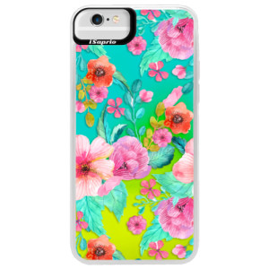 Neonové pouzdro Blue iSaprio Flower Pattern 01 na mobil Apple iPhone 6 Plus/6S Plus