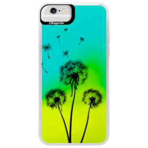 Neonové pouzdro Blue iSaprio Three Dandelions black na mobil Apple iPhone 6 Plus/6S Plus