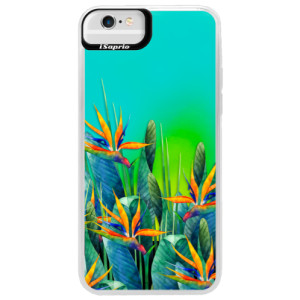Neonové pouzdro Blue iSaprio Exotic Flowers na mobil Apple iPhone 6 Plus/6S Plus