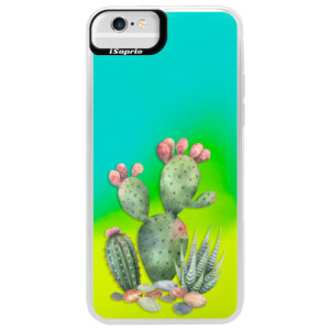 Neonové pouzdro Blue iSaprio Cacti 01 na mobil Apple iPhone 6 Plus/6S Plus