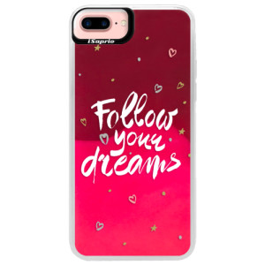 Neonové pouzdro Pink iSaprio Follow Your Dreams white na mobil Apple iPhone 7 Plus