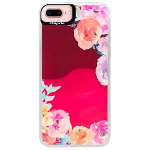 Neonové pouzdro Pink iSaprio Flower Brush na mobil Apple iPhone 7 Plus