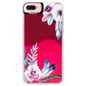 Neonové pouzdro Pink iSaprio Flower Pattern 04 na mobil Apple iPhone 7 Plus