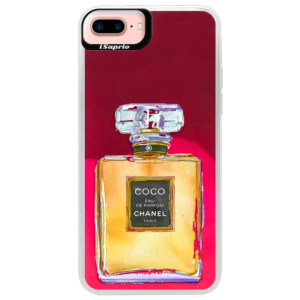 Neonové pouzdro Pink iSaprio Chanel Gold na mobil Apple iPhone 7 Plus