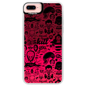 Neonové pouzdro Pink iSaprio Comics 01 black na mobil Apple iPhone 7 Plus