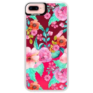 Neonové pouzdro Pink iSaprio Flower Pattern 01 na mobil Apple iPhone 7 Plus