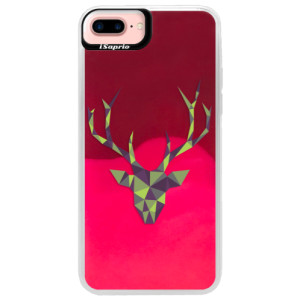 Neonové pouzdro Pink iSaprio Deer Green na mobil Apple iPhone 7 Plus