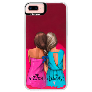 Neonové pouzdro Pink iSaprio Best Friends na mobil Apple iPhone 7 Plus