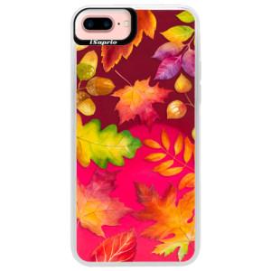 Neonové pouzdro Pink iSaprio Autumn Leaves 01 na mobil iPhone 7 Plus