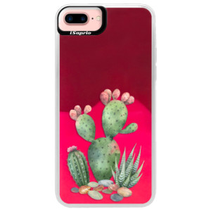 Neonové pouzdro Pink iSaprio Cacti 01 na mobil Apple iPhone 7 Plus