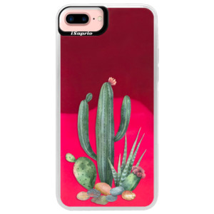 Neonové pouzdro Pink iSaprio Cacti 02 na mobil Apple iPhone 7 Plus