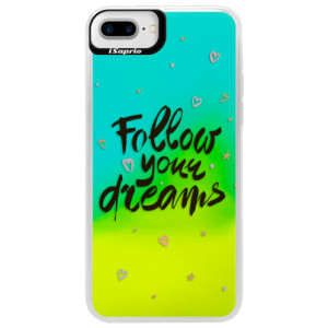 Neonové pouzdro Blue iSaprio Follow Your Dreams black na mobil Apple iPhone 7 Plus