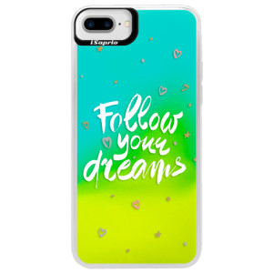Neonové pouzdro Blue iSaprio Follow Your Dreams white na mobil Apple iPhone 7 Plus