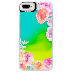 Neonové pouzdro Blue iSaprio Flower Brush na mobil Apple iPhone 7 Plus