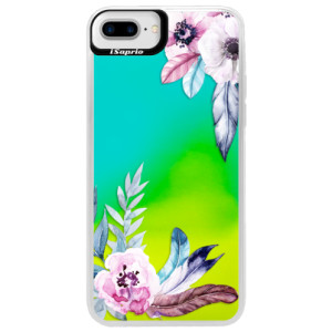 Neonové pouzdro Blue iSaprio Flower Pattern 04 na mobil Apple iPhone 7 Plus
