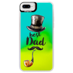 Neonové pouzdro Blue iSaprio Best Dad na mobil Apple iPhone 7 Plus