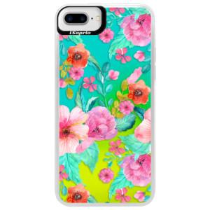 Neonové pouzdro Blue iSaprio Flower Pattern 01 na mobil Apple iPhone 7 Plus