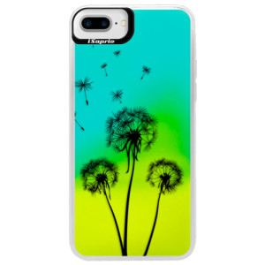 Neonové pouzdro Blue iSaprio Three Dandelions black na mobil Apple iPhone 7 Plus