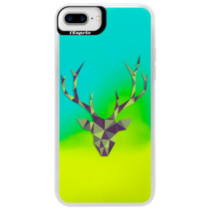 Neonové pouzdro Blue iSaprio Deer Green na mobil Apple iPhone 7 Plus