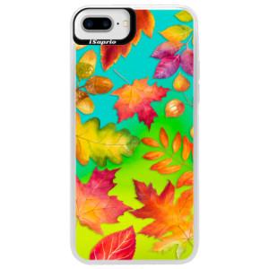 Neonové pouzdro Blue iSaprio Autumn Leaves 01 na mobil iPhone 7 Plus