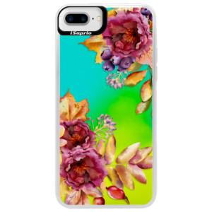 Neonové pouzdro Blue iSaprio Fall Flowers na mobil Apple iPhone 7 Plus