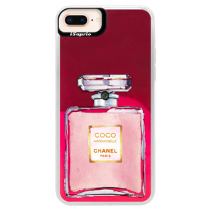 Neonové pouzdro Pink iSaprio Chanel Rose na mobil Apple iPhone 8 Plus