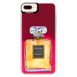 Neonové pouzdro Pink iSaprio Chanel Gold na mobil Apple iPhone 8 Plus