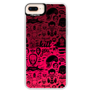 Neonové pouzdro Pink iSaprio Comics 01 black na mobil Apple iPhone 8 Plus