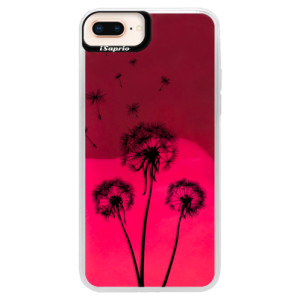 Neonové pouzdro Pink iSaprio Three Dandelions black na mobil Apple iPhone 8 Plus