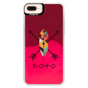 Neonové pouzdro Pink iSaprio BOHO na mobil Apple iPhone 8 Plus