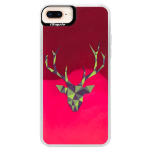 Neonové pouzdro Pink iSaprio Deer Green na mobil Apple iPhone 8 Plus
