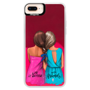 Neonové pouzdro Pink iSaprio Best Friends na mobil Apple iPhone 8 Plus