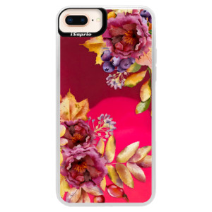 Neonové pouzdro Pink iSaprio Fall Flowers na mobil Apple iPhone 8 Plus